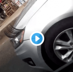 Car With Eye Lashes Spotted In Lagos (Photo)